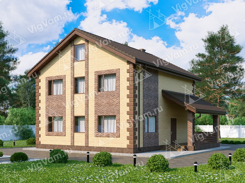 """Каркасный дом с 4 спальнями и мансардой V059 """"Дьюрант"""""""