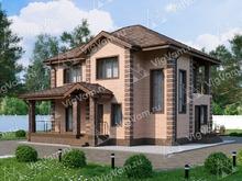 """Каркасный дом с 3 спальнями и террасой V042 """"Лок Хэвен"""""""