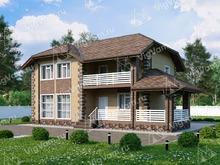 """Каркасный дом с 3 спальнями и эркером V058 """"Эдмонд"""""""