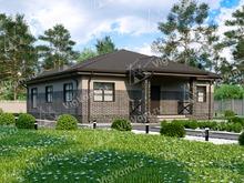 """Каркасный дом с 3 спальнями и газовой котельной V003 """"Хинтон"""""""