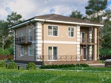 """Каркасный дом с 4 спальнями и гаражом V002 """"Моргантаун"""""""