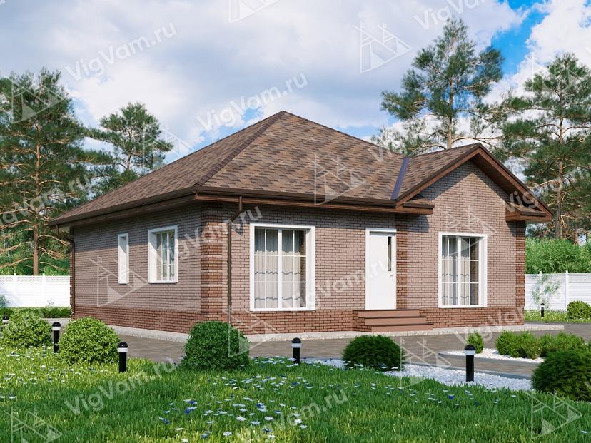 """Каркасный дом с 3 спальнями V056 """"Лакевью"""""""