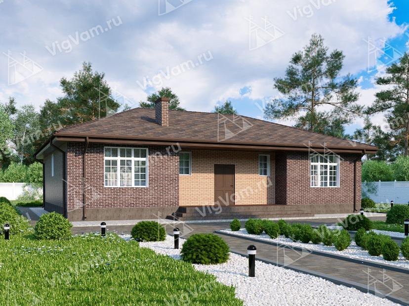 """Каркасный дом с 3 спальнями и террасой V001 """"Нью Мартинсвиль"""""""