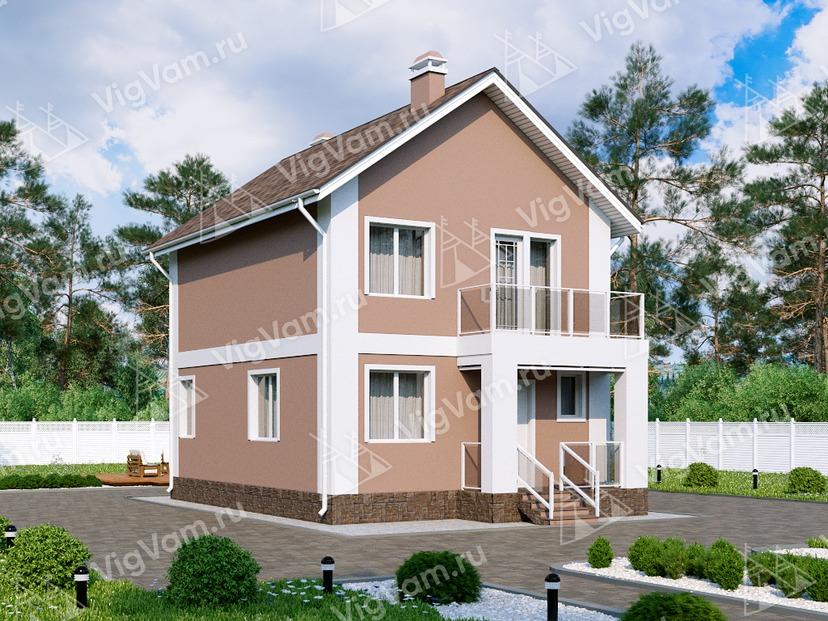 """Каркасный дом с 3 спальнями V054 """"Порт Офорд"""""""