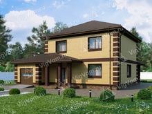 """Каркасный дом с 3 спальнями и гаражом V053 """"Редмонд"""""""