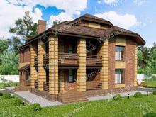 """Каркасный дом с 4 спальнями, террасой и гостевой комнатой V038 """"Шэрон"""""""