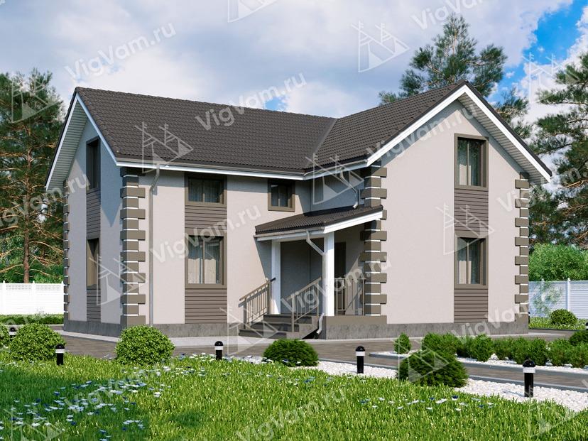 """Каркасный дом с мансардой V037 """"Вест Честер"""""""