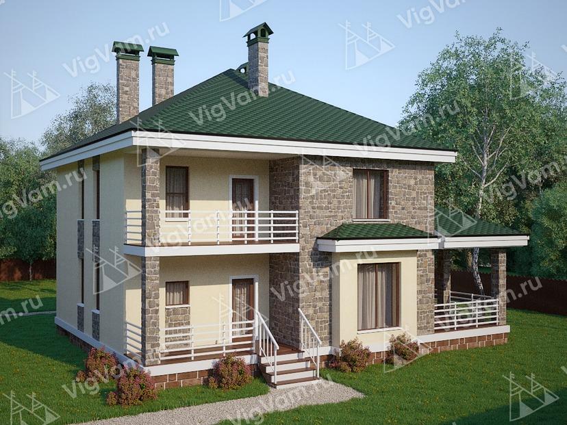 """Каркасный дом с 3 спальнями V308 """"Винни"""""""