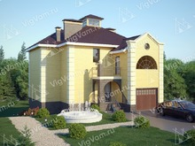 """Каркасный дом с гаражом и эркером V316 """"Тилли"""""""