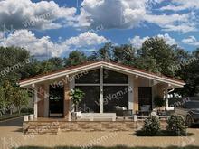 """Каркасный дом с террасой V464 """"Касл-Рок"""""""