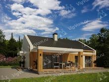 """Каркасный дом с котельной и террасой V466 """"Гринвилл"""""""