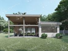 """Каркасный дом с 2 спальнями и террасой V467 """"Гринборо"""""""