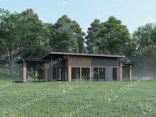"""Каркасный дом с террасами и комнатами отдыха V468 """"Санфорд"""""""