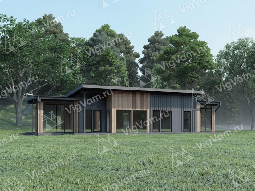 """Дом из керамического блока с террасами и комнатами отдыха VK468 """"Санфорд"""""""