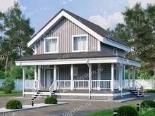 """Каркасный дом с 4 спальнями и сауной V369 """"Тусон"""""""