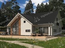 """Каркасный дом с балконом и котельной V471 """"Медфорд"""""""