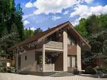 """Каркасный дом с котельной, террасой и балконом V473 """"Тафт"""""""